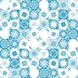 Abstract naadloos patroon van geometrische vormen Etnische motieven Stock Afbeelding