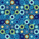 Abstract naadloos patroon van geometrische vormen Etnische motieven Stock Foto's