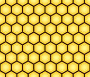 Abstract naadloos patroon van honingraatvorm Stock Afbeeldingen