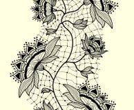 Abstract naadloos patroon van kantlint met stroom Stock Fotografie
