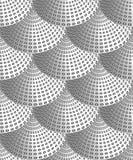 Abstract naadloos patroon van krullen vector illustratie