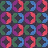 Abstract naadloos patroon van multicolored garens Geometrische textuur Royalty-vrije Stock Afbeelding