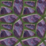 Abstract naadloos patroon van scherpe stenen met marmertextuur op een groene achtergrond vector illustratie