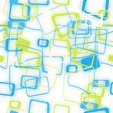 Abstract naadloos patroon van vage gekleurde vierkanten Stock Afbeeldingen