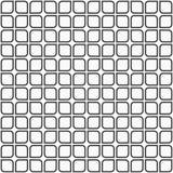 Abstract naadloos patroon van vierkanten met rond gemaakte hoeken Stock Afbeeldingen
