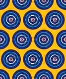 Abstract naadloos patroon voor druk op document en textiel stock illustratie