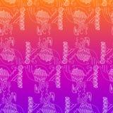 Abstract naadloos patroon, wit overzicht, heldere gradiënt Royalty-vrije Stock Foto's