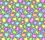 Abstract Naadloos Patroon in Zachte Pastelkleuren Royalty-vrije Stock Foto's