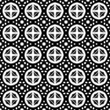 Abstract naadloos patroon in zwart-wit Stock Afbeeldingen