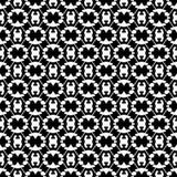 Abstract naadloos patroon in zwart-wit Stock Foto's