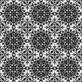 Abstract naadloos patroon in zwarte Royalty-vrije Stock Foto