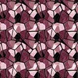 Abstract naadloos rood en zwart marmeren patroon met aders stock illustratie