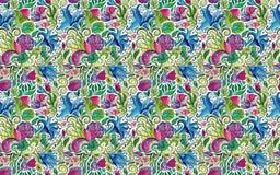 Abstract naadloos sierpatroon De Indische achtergrond van de handtekening Vector voorraadillustratie Royalty-vrije Stock Foto