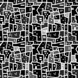 Abstract naadloos stedelijk patroon stock foto's