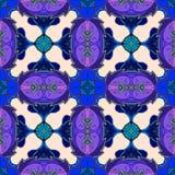 Abstract naadloos vectorpatroon in blauwe en lilac tonen Royalty-vrije Stock Afbeeldingen