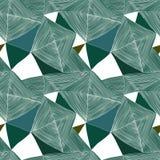 Abstract naadloos vectorpatroon op witte achtergrond Stock Foto