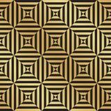Abstract Naadloos Zwart en Gouden Art Deco Vector Pattern vector illustratie