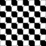 Abstract Naadloos Zwart-wit Art Deco Vector Pattern Stock Afbeelding