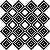 Abstract Naadloos Zwart-wit Art Deco Vector Pattern Royalty-vrije Stock Afbeelding
