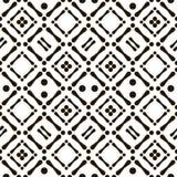 Abstract naadloos zwart-wit inheems patroon royalty-vrije illustratie