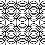 Abstract naadloos zwart-wit patroon Royalty-vrije Stock Fotografie