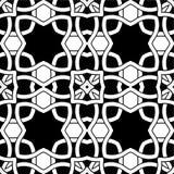 Abstract naadloos zwart-wit patroon Stock Afbeeldingen