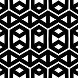 Abstract naadloos zwart-wit patroon Stock Afbeelding