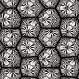 Abstract naadloos zwart-wit patroon van stenen royalty-vrije illustratie