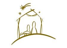 Abstract nativity symbol Royalty Free Stock Photos