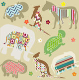 Abstract natural animal pattern Stock Photos