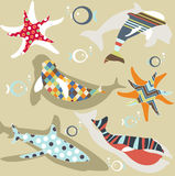 Abstract natural animal pattern Royalty Free Stock Image