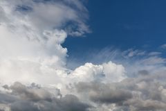 Beautiful sky with clouds. Abstract natural background with clouds. Beautiful sky with clouds royalty free stock images