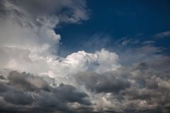 Beautiful sky with clouds. Abstract natural background with clouds. Beautiful sky with clouds royalty free stock photos