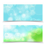 Abstract natural bokeh lights  banner. Abstract natural header Stock Photos