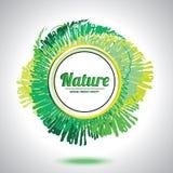 Abstract natural circle element. Green smudge whirlpool. Abstract circle element Stock Photography