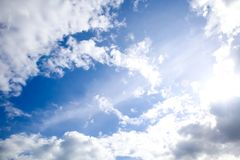 Abstract Natural cloud on blue sky background stock photography