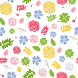 Abstract Natural Flower Seamless Pattern Stock Photo