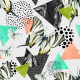 Abstract natural geometric seamless pattern Royalty Free Stock Photography