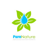 Abstract natural leaf logo Royalty Free Stock Photography