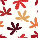 Abstract Natural Leaves Seamless Pattern Background Royalty Free Stock Photos