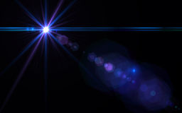 Abstract Natural lens flare. Rays background. Digital lens flare in black background.Beautiful rays of light royalty free illustration