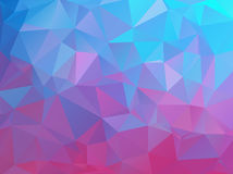 Abstract natural polygonal background. Smooth bright colors from turquoise blue to purple Stock Images