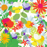 Abstract Natural Spring Seamless Pattern Background with Flowers Stock Image