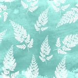 Abstract Natural Spring Seamless Pattern Background with Leaves. Vector Illustration. EPS10 Stock Image