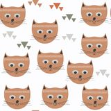 Abstract nature animals cats  seamless pattern. It is loca. Ted in swatch menu, vector Stock Images