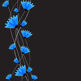 Abstract nature background. Blue cornflowers. Royalty Free Stock Photos