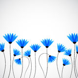 Abstract nature background. Blue cornflowers. Stock Photo