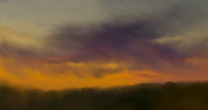 Abstract nature background with Colorful sunset Royalty Free Stock Images
