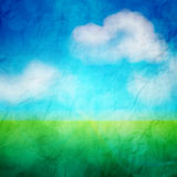 Abstract nature background on grunge paper Royalty Free Stock Image