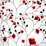 Abstract nature background with red flowers. Vector Stock Photography